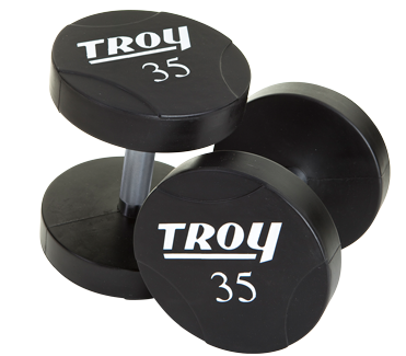 55 - 75lb Set Troy Urethane Coated  Dumbbells