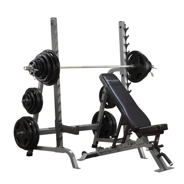 Body Solid SDIB370 Olympic Bench Rack Combo
