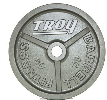 Troy Wide Flanged Gray Olympic Weight Set