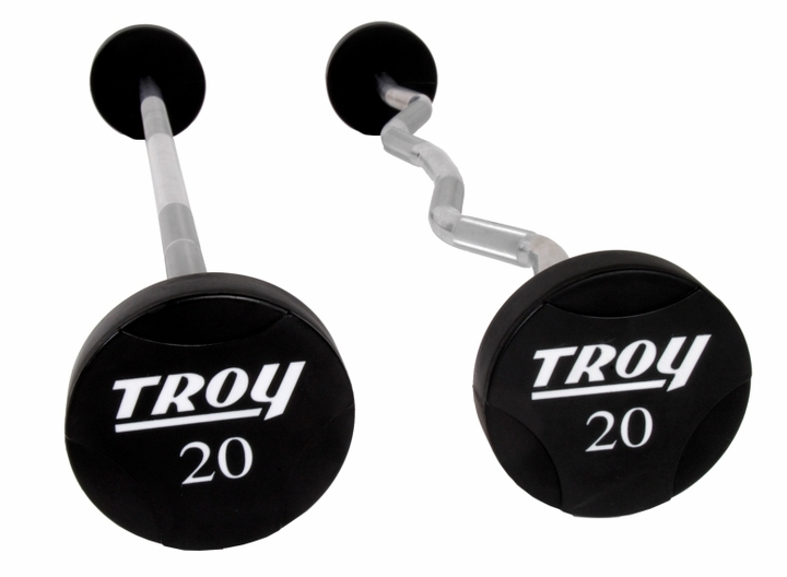 Troy Urethane Encased Barbells 20 - 110lb Set