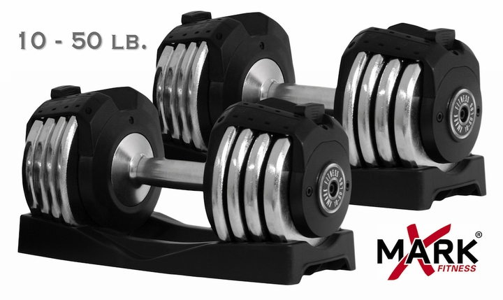 XMark XM-3307 Adjustable Dumbbells - 50lb Pair