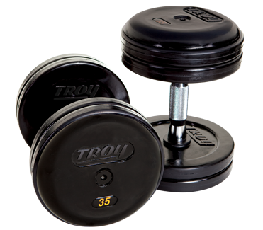 Troy Rubber Encased Pro Style Dumbbells 105-120lb Set