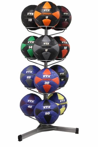 VTX Leather Wall Ball Set W/Rack