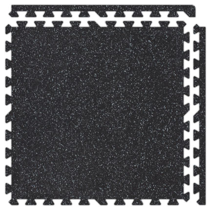 "SoftRubber Interlocking Flooring - 2' x 2' x 3/4"" Tiles"
