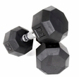 VTX 8 Sided Rubber Encased Dumbbells 3-25lb. Set
