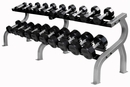 Troy Rubber Encased Dumbbells 5-50lb Set W/ Pro Style Rack