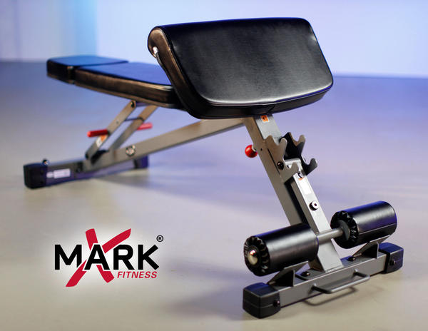 XMark XM-7631 Ab, Hyperextension & Preacher Curl Weight Bench