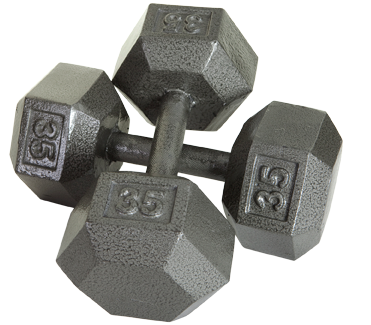 Hex Dumbbells 55-100lb. Set