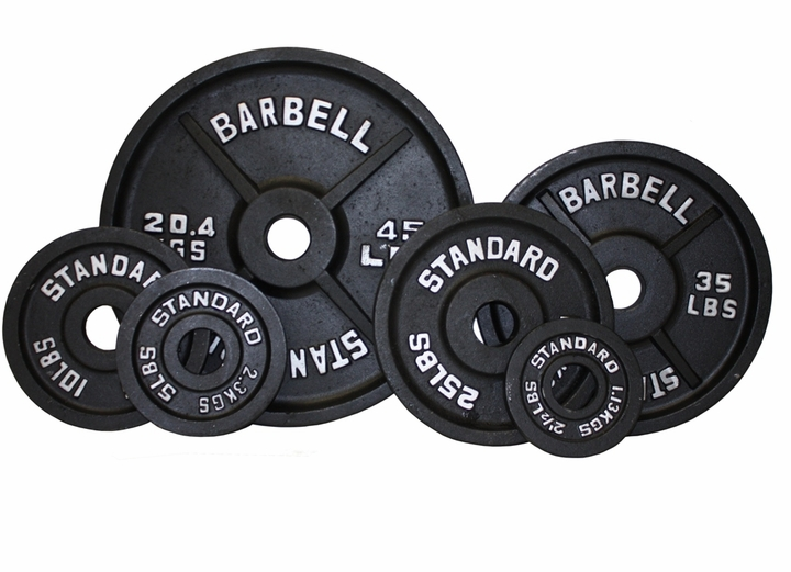 Olympic Weight Plate Set Black - 455lbs