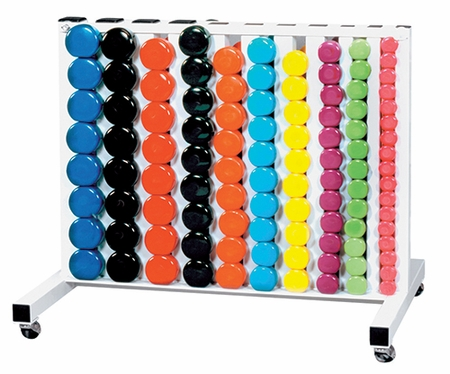 York Vinyl Dumbbell Club Pack W/Rack