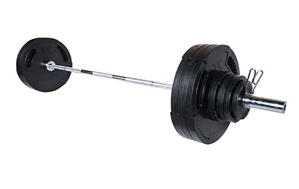 York 300lb G2 Rubber Coated Olympic Weight Set