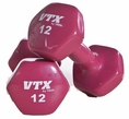 Vinyl Coated Dumbbells 1lb-15lb Set