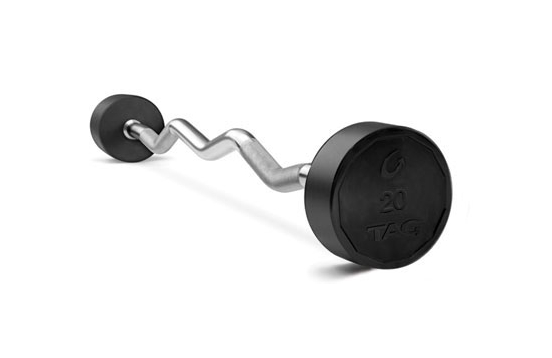 Tag Ultrathane Curl Barbells (20lb - 110lb Set)