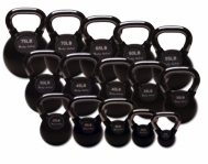 Premium Rubber Coated Kettle Bells 25 - 50lb Set