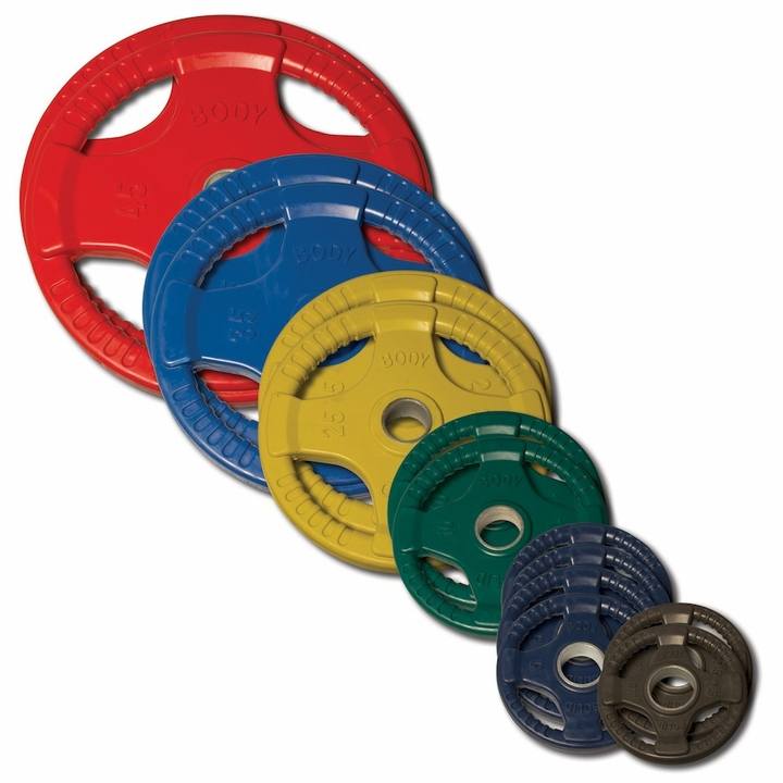 Body Solid Colored Rubber Olympic Weight Plate Set - 255lbs