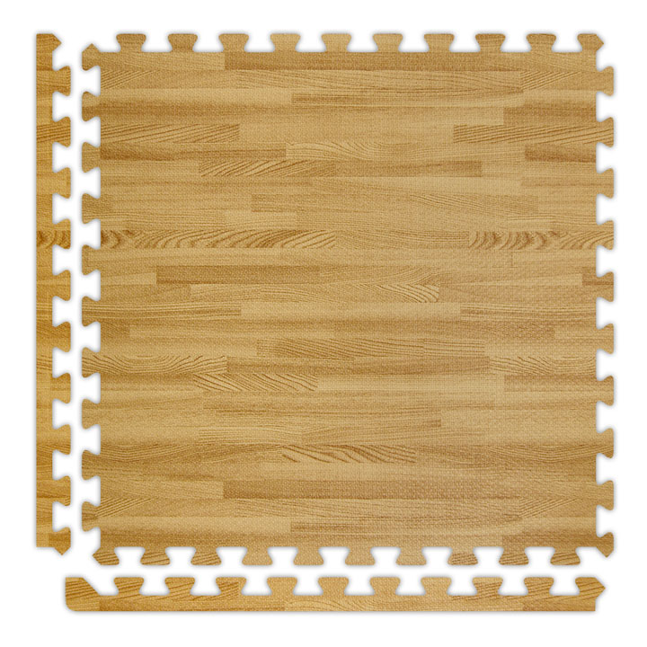 SoftWoods Foam Rubber Interlocking Flooring - 2' x 2' Tiles