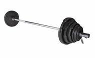 York 300lb Cast Iron Olympic Weight Set