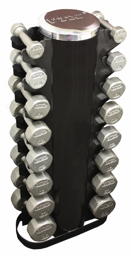 VTX 3-25lb Pro Dumbbell Set W/8 Pair Rack