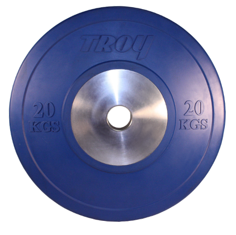 Troy 20kg Competition Bumper Plates - Pair
