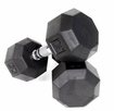 VTX 8 Sided Rubber Encased Dumbbells 5-50lb. Set