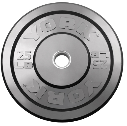 York 25lb Solid Rubber Bumper Plates - Pair