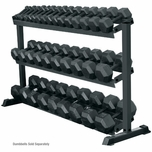York 3 Tier Pro-Hex Dumbbell Rack