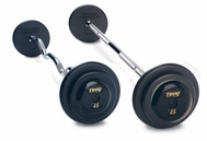 Troy Black Barbell Sets  W/ Black End Caps