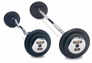 Troy Black Barbell Sets W/Chrome End Caps