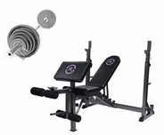 Economy 210lb Olympic Bench Press Package