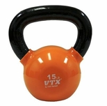 VTX 15lb Vinyl Coated Kettle Bell