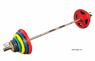 Body Solid Colored Rubber Grip Olympic Weight Sets
