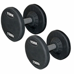York Rubber Coated Pro Style Dumbbells (55LB To 100LB) Set
