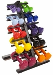 VTX Vinyl Dumbbell Set With Rack