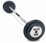 Troy Pro Style Barbells - Chrome End Cap  (25lb - 115lb Set)