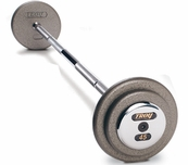 Troy Gray Pro Style Barbells - Chrome Cap (25lb - 115lb Set)