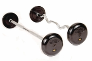 Troy Pro Style Rubber Coated Barbells  (25lb - 115lb Set)
