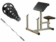 Body Solid Preacher Curl Bench Package