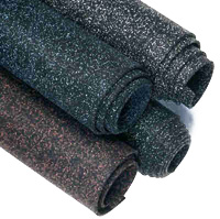 "Super Mats 3/8"" Rolled Rubber Gym Flooring"