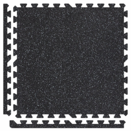"SoftRubber Interlocking Flooring  2' x  2' x 3/8""   Tiles"