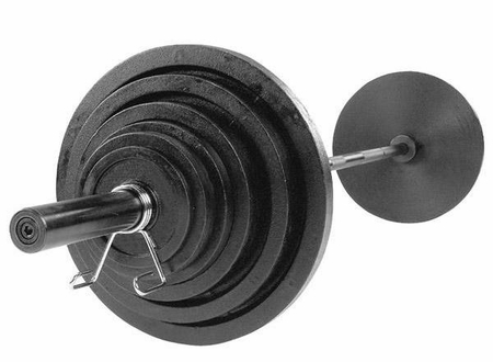 Body Solid Cast Olympic Weight Set W/Black Bar