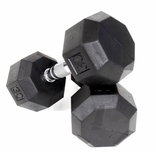 VTX  8 Sided Rubber Encased Dumbbell Sets