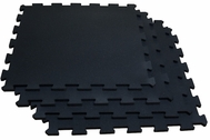 Body Solid RF4PMB Interlocking Flooring - 4 Pack (Black)