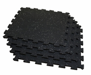 Body Solid RF4PMG Interlocking Flooring - 4 Pack (Gray Fleck)