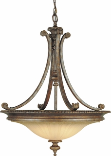 F1920/4BRB Murray Feiss Stirling Castle 4 Light Uplight Chandelier in British Bronze Finish