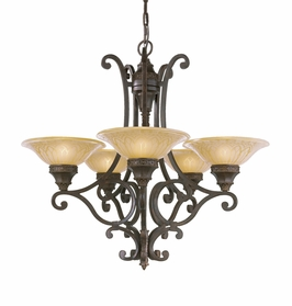 F2030/5PAL Murray Feiss Casbah 5 Light Chandelier in Palladio Finish