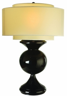 Tt5260 Trend Lighting 1 Light Bristol Table Lamp In Ebony Lacquer (DISCONTINUED PRODUCT)