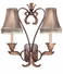 C69012-99 Corbett Lighting Crescent Court Two Light Wall Sconce
