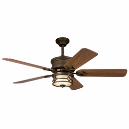 300001AGZ Kichler Aged Bronze 52 Inch Chicago Fan Chicago Fans