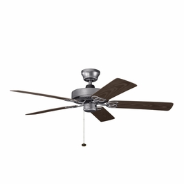 339520WSP Kichler Weathered Steel Powder Coat 52 Inch Sterling Manor Patio Fan Sterling Manor Patio Fans