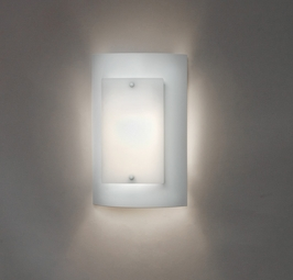 9318L12 Ultralights Lighting Luz Azul 12-Inch Wall Sconce